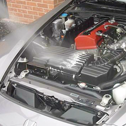 how to clean engine bay safely